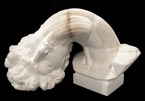 Li_Hongbo_Bust_of_David_paper_70x50x50cm_2012_2