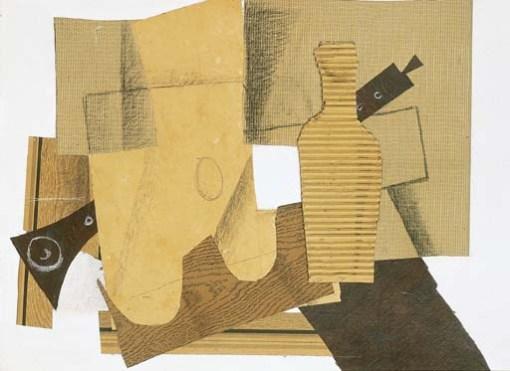 Georges Braque Bouteille et instruments de musique 1918