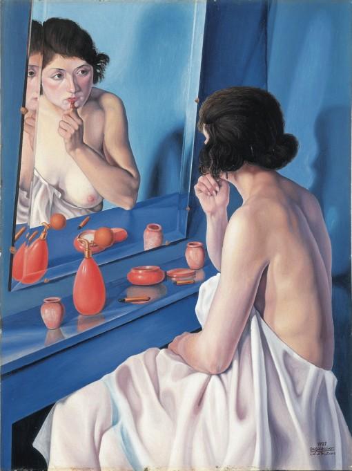 Femme au miroir-Natalino Bentivoglio Scarpa, dit Cagnaccio di San Pietro