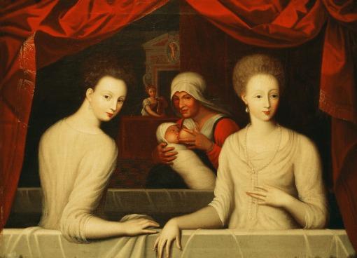 Gabrielle d'Estrées et la Duchesse de Villars au bain-anonyme