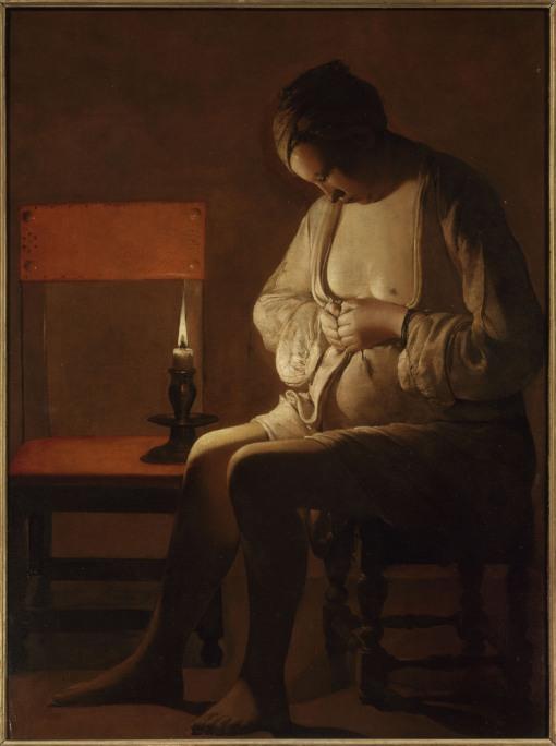 La Femme à la puce-Georges de La Tour.