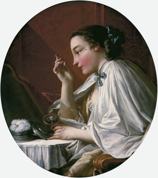 Une dame à sa toilette-François Boucher.