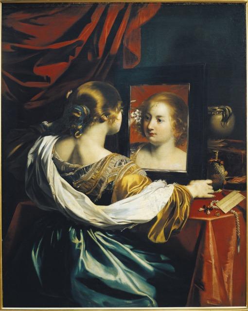 Vanité ou Jeune femme à sa toilette-Nicolas Régnier