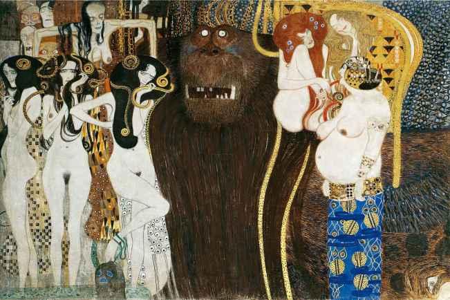 Frise Beethoven Klimt epreuve sur la route du bonheur